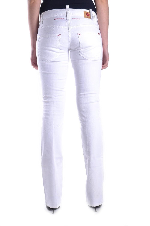 DSQUARED2 WOMEN'S MCBI107158O WHITE COTTON JEANS