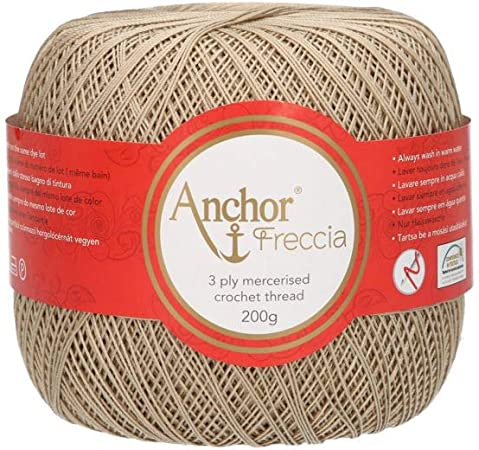 Anchor Hilos De Crochet Freccia, Fuerza: 12, Embalaje: 200g ...