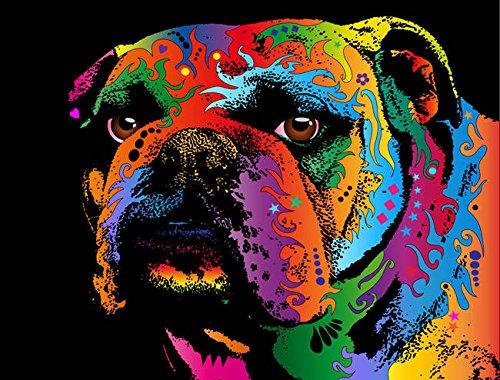 Wall Art Print entitled Bulldog by Michael Tompsett | 21 x 16
