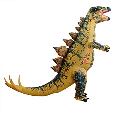 Amazon.com: Disfraz de dinosaurio inflable para adultos ...