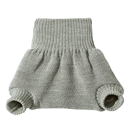 Knit Wool Diaper Cover - DISANA 100% ORGANIC WOOL DIAPERS COVER/SOAKER/OVER PANTS MADE IN GERMANY (98-104 (2-3 years), Grey)