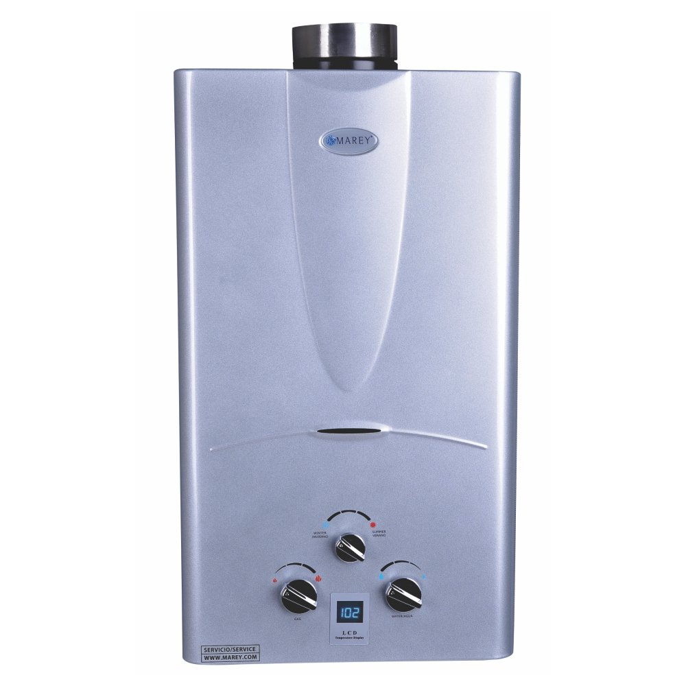 Marey Power Gas 10L 2.7  GPM Natural Gas Digital Panel Tankless Water Heater by MAREY
