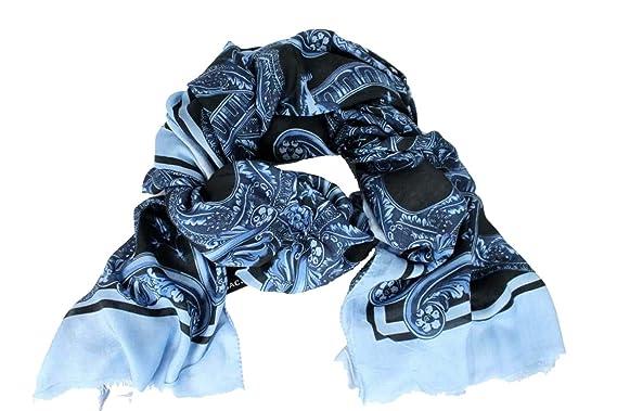 Versace - Echarpe - À Fleurs - Femme bleu bleu Taille unique  Amazon ... 82120ac503f