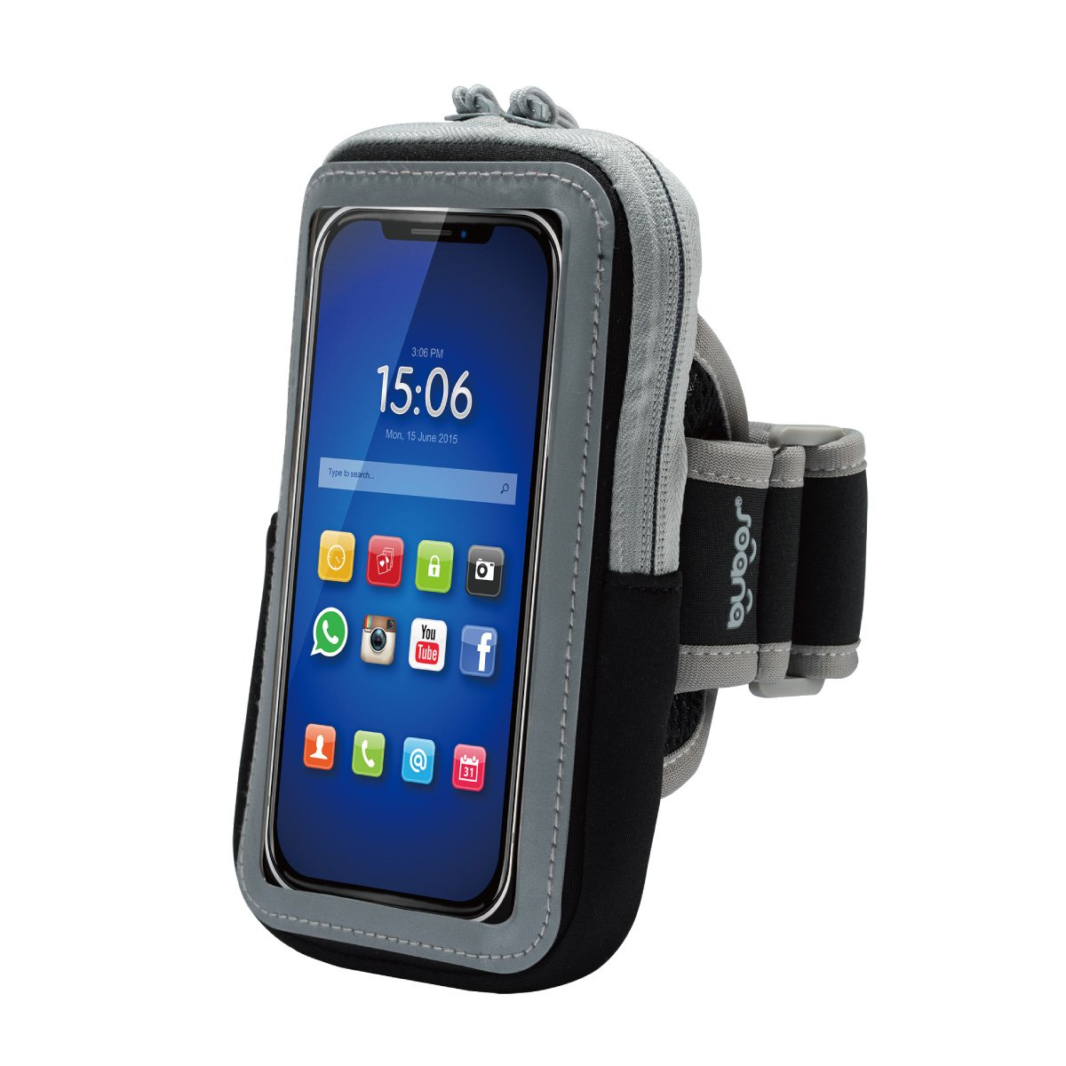 BUBOS Multifunctional Sports Armband, watertproof Running Exercise Gym Fitness Cellphone Sportband Bag Key Holder for iPhone 6 6S 7 Plus Touch Android Samsung Galaxy S5 S6 S7 Edge.