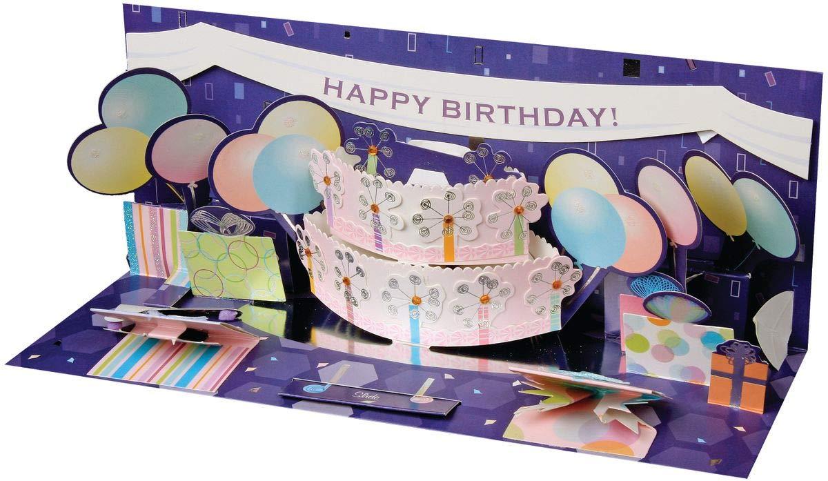 Pop Up Geburtstags Karte 3D Badeurlaub Panorama 10x23 cm