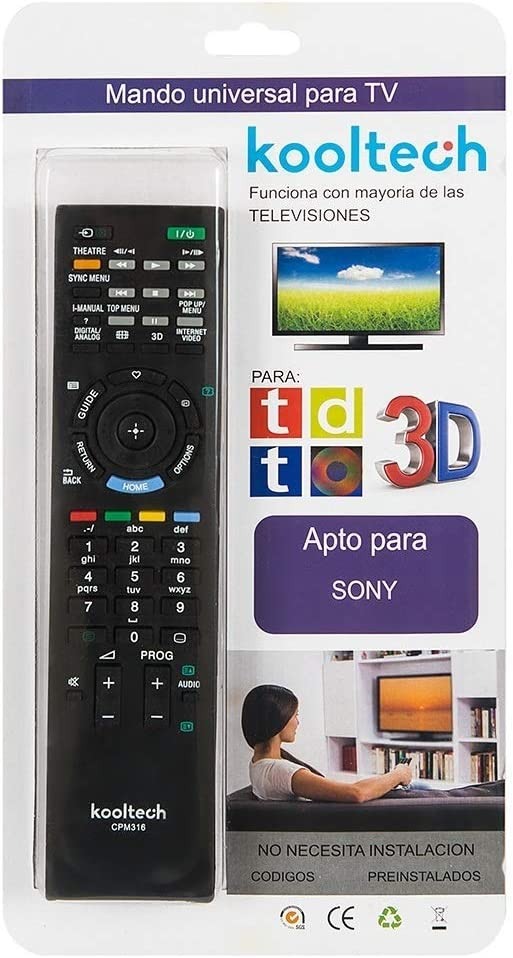 Mando Distancia Universal Para la Mayoría TV Televisores Sony SIN ...