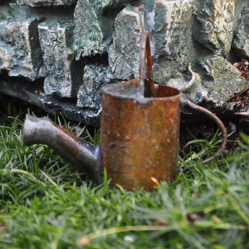 Miniature Fairy Garden Watering Can, Two Handle