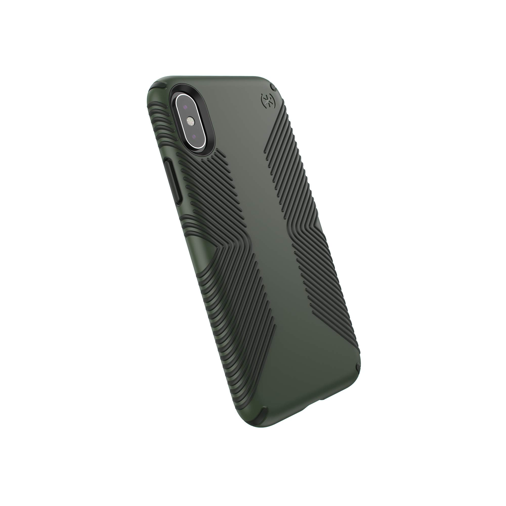Speck Presidio Grip Series Case for Apple iPhone XS and X - Dusty Green/Black by Speck