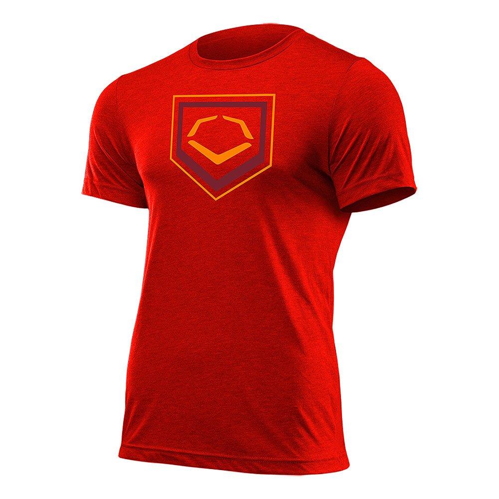Evoshield 2色ホームプレートフラッシュ野球/ソフトボールTシャツ B01D5H96LS Medium|レッド レッド Medium