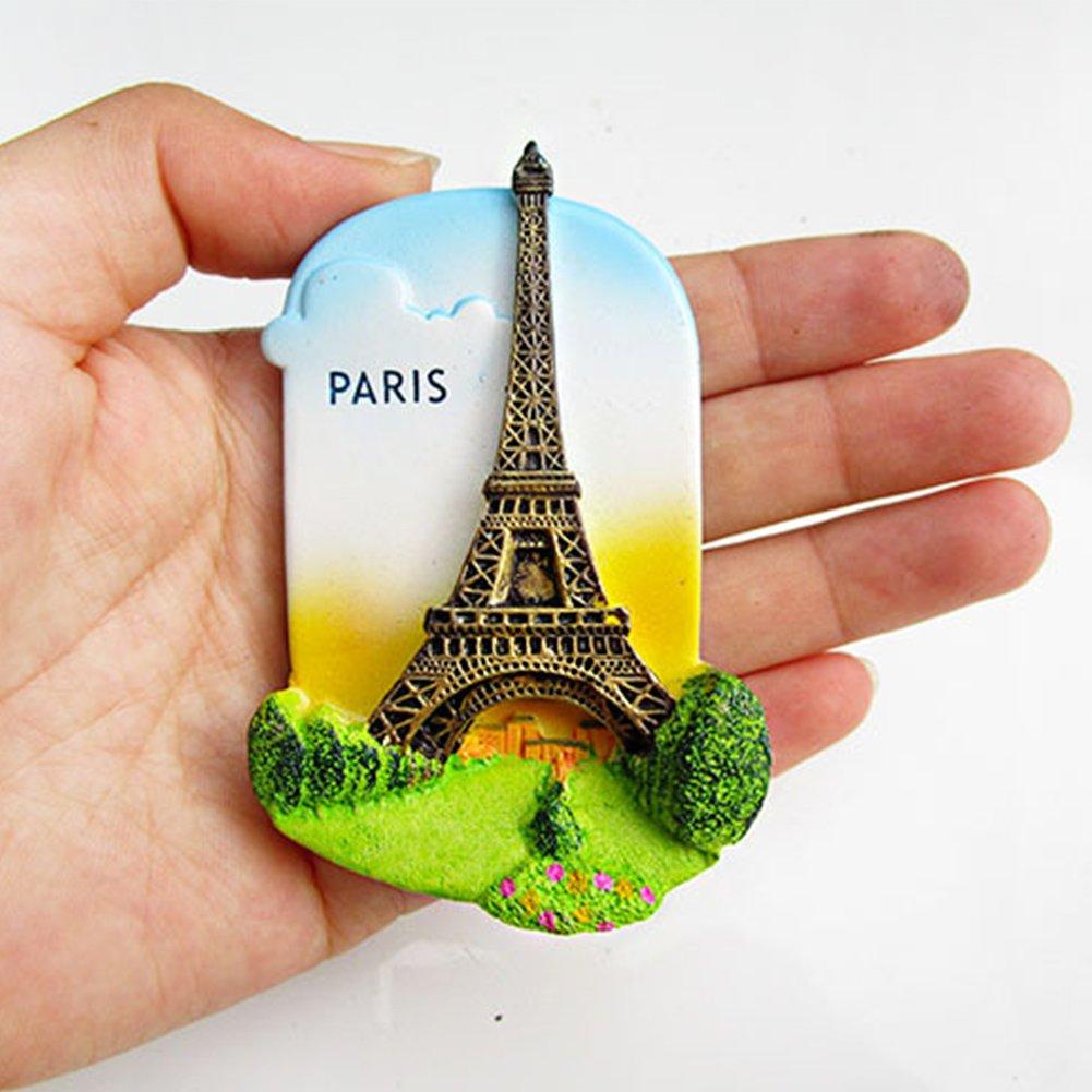 7 x 5 cm per San Francisco Parigi HINMAY Sydney Bali Londra Decorazione per Frigorifero Calamita 3D per Frigorifero in Resina Grecia Giappone