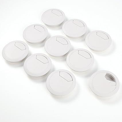 Anladia 10pcs Pasacables con Tapa para Abrir - 56mm diámetro ...