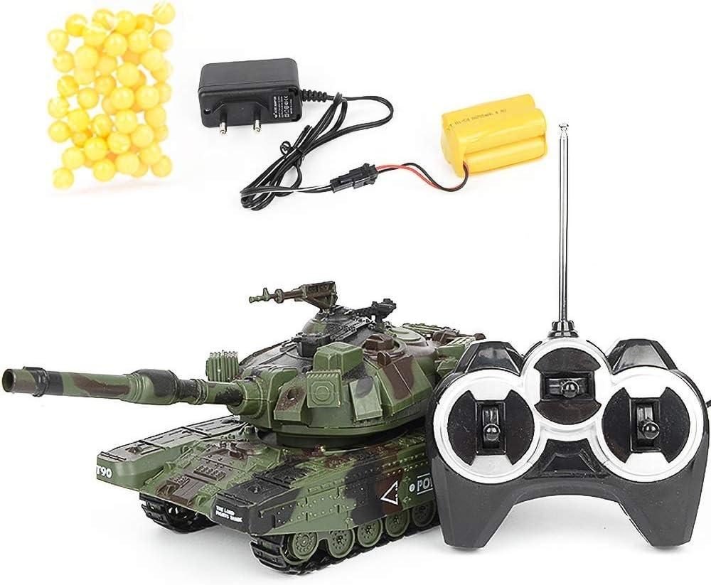 AIOJY Tanque de Control Remoto Mini RC Tanque con Cargador USB Cable de Control Remoto del Tanque Panzer alemán Tiger I con el Sonido, Regalo del vehículo de niños Mejor Fin de año de Navidad RC