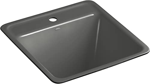 Kohler K-6655-1U-58 Park Falls Undercounter Sink with One-Hole Faucet Drilling, Thunder Grey