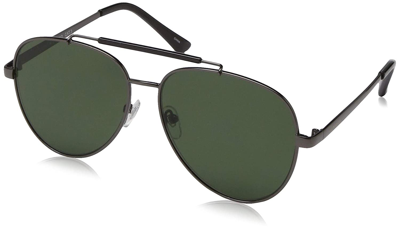Lucky Redw Aviator Sunglasses, Gunmetal, 58 mm