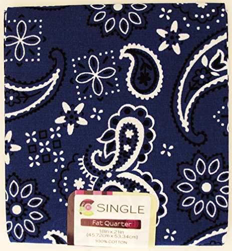 Blue Quilt Bandanas (FAT QUARTERS (3) Classic Bandana ~ DARK PERIWINKLE BLUE~ 100% COTTON FABRIC ~ Quilt Fabric ~ SEWING)