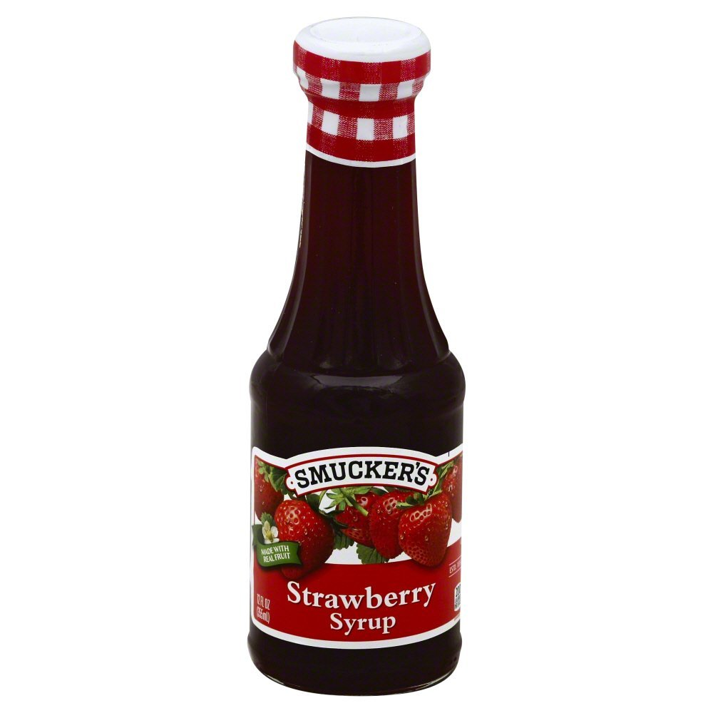 Smuckers, Natural Syrup Red Raspberry Natural, 12 OZ (Pack of 6)