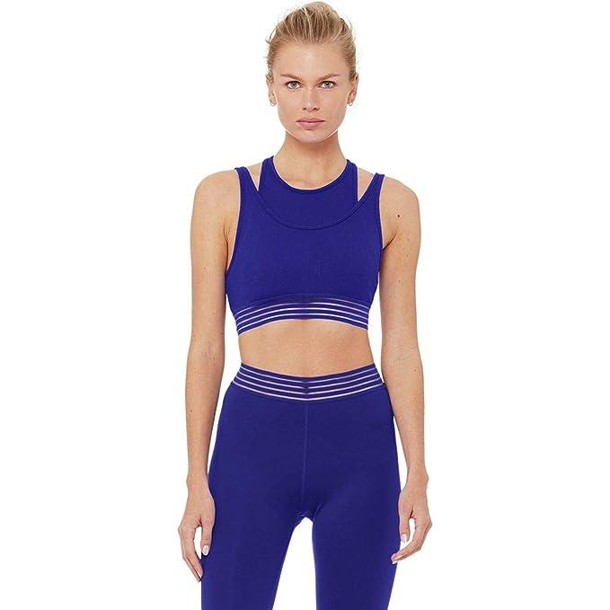 Alo Yoga Gaze Layered Bra - Womens Sapphire, S at Amazon ...