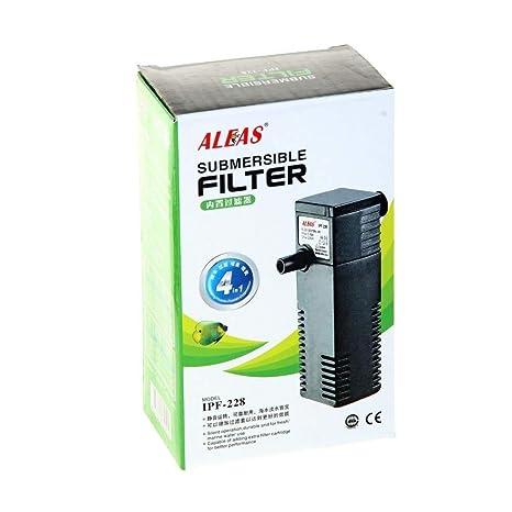 Trade Shop traesiopompa Filtro Interno Sumergible biofiltro para de Acuario ipf-228 4 W 220