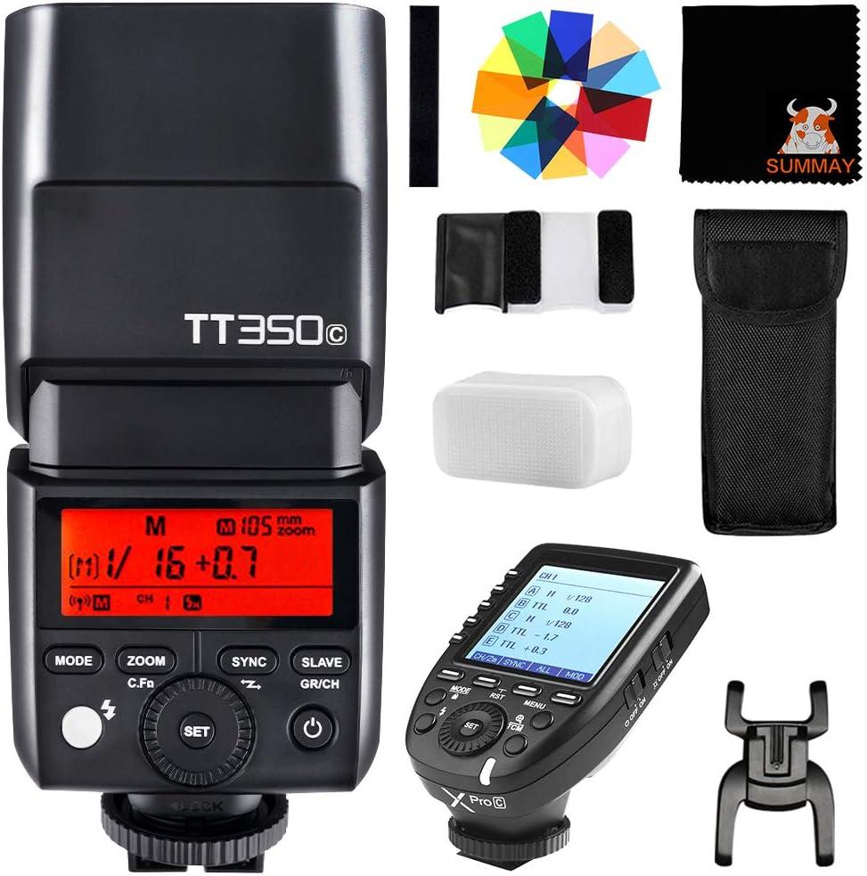 GODOX TT350C TTL Mini Flash with XPro-C Trigger GN36 Camera Speedlite for Canon 5D Mark III 80D 7D 760D 60D 600D 30D 100D 1100D Digital X etc
