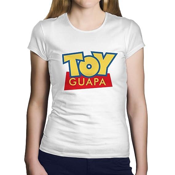 OKAPY Camiseta Toy Guapa. Una Camiseta de Mujer con el Logotipo de Toy Story con Too Guapa. Camiseta Friki de Color Blanca: Amazon.es: Ropa y accesorios