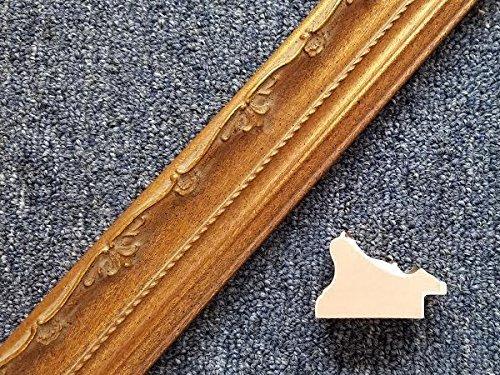 20' Imported Dark Gold Leaf Ornate Solid Wood Picture Frame Moulding -