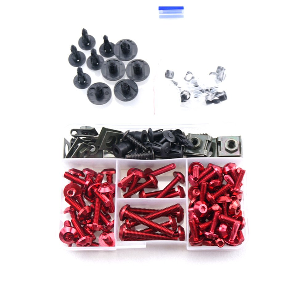 CNC Complete Fairing Bolt Screws Kit for Suzuki GSX-R 600//750 K6 2006 2007