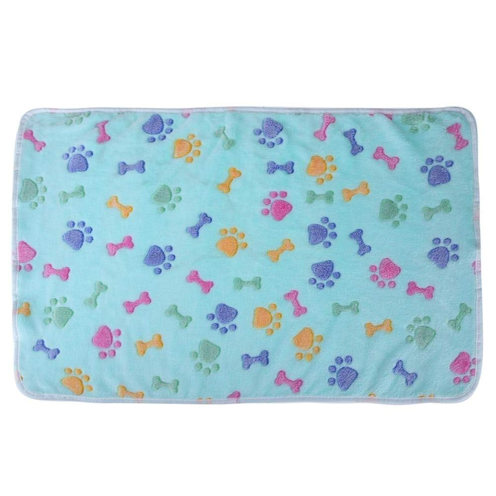 Kennel Pads Dog Beds Pet Bed Blankets Warm Soft Coral Velvet Pet Blanket Sleep Mat Dog Bed Puppy Cushion(bluee L) Cat Bed Pet Supplies Cover