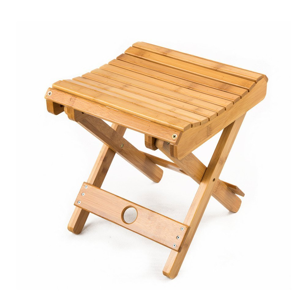 Amazon.com: Multifunctional Foldable Bamboo Shower Stool Seat for ...