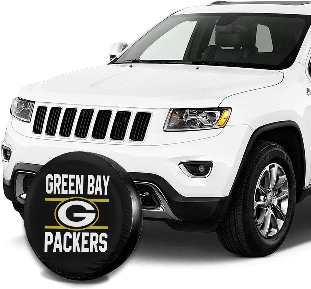 Green Bay Packers Polyester Universal Spare Wheel Tire Cover Wheel Covers