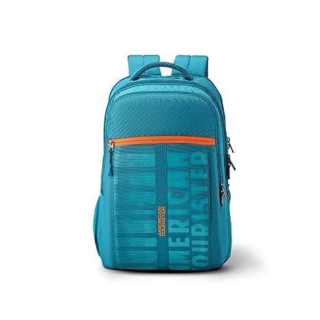 American Tourister X-Jock 28.5 Ltrs Teal Laptop Backpack (Fi7 (0) 11 ... 1d8e573d5f8e3
