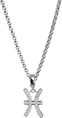 Pisces Zodiac Sign Necklace \u2022 Astrological Symbol Pendant \u2022 Handmade Jewelry Wooden Rune Charm \u2022 Personalized Engraving Bead Options