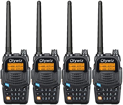 Olywiz UV6S High Power Dual Band Amateur Ham Two Way Radio Walkie Talkie Transceiver 128 Channel VHF136-174Mhz UHF406-470Mhz FM Radio 2000mAh Battery VOX Long Range 4Pack