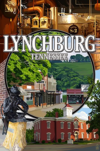 Lynchburg, Tennessee - Town Scenes (16x24 SIGNED Print Master Giclee Print w/Certificate of Authenticity - Wall Decor Travel Poster)