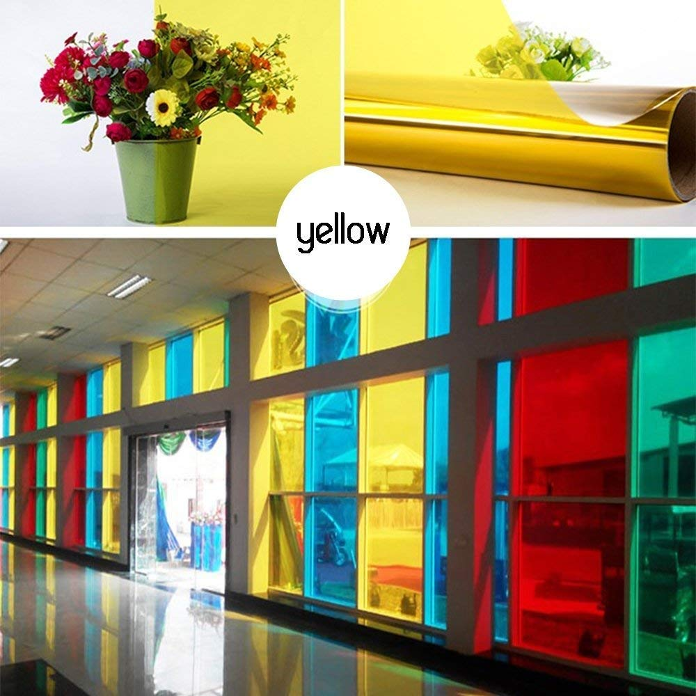 Yizunnu One Way Miroir Home Verre de confidentialit/é Windows Film de confidentialit/é Solaire R/éfl/échissant Window Tin 74,9/x 500,4/cm 29.5x197 inch Rose
