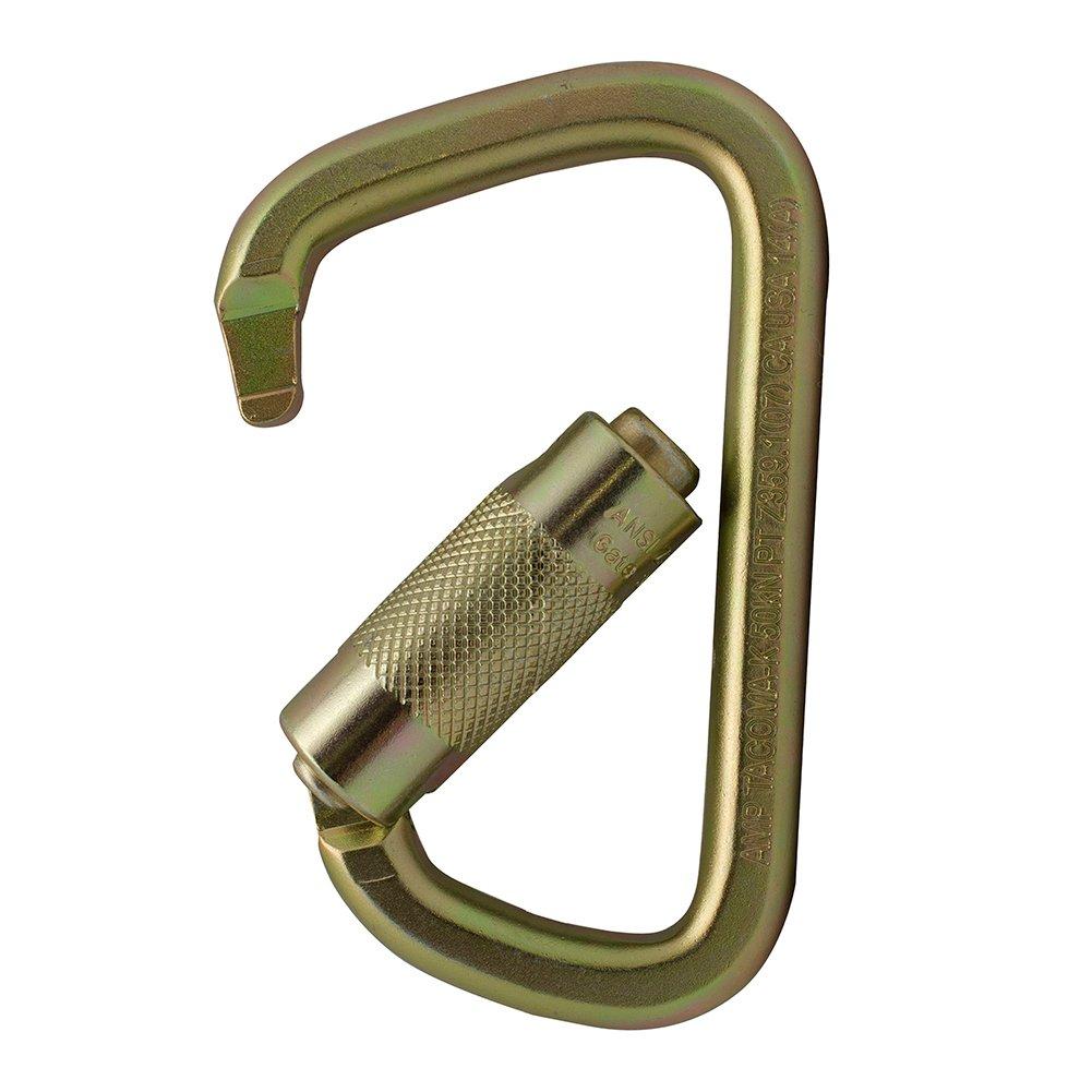 Fusion Tacoma D Shaped Triple Lock Alloy Steel Carabiner