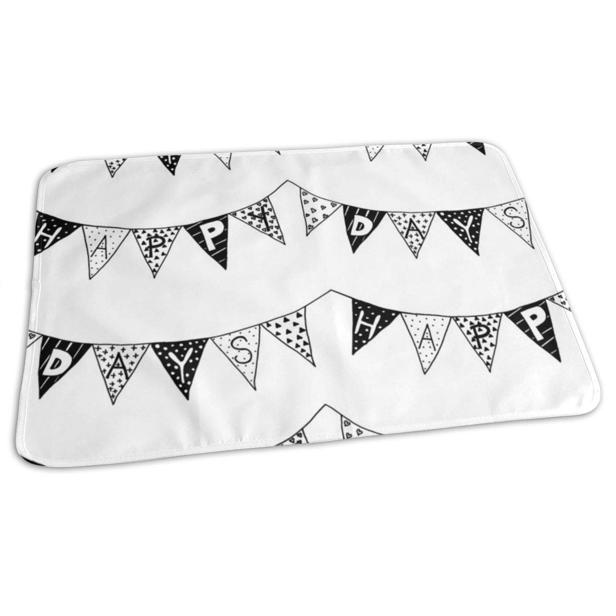 Happy Days Bunting Bw Baby Portable Reusable Changing Pad Mat 19.7x27.5 inch