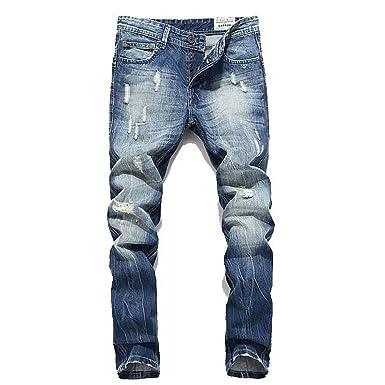 Bicrad Herren Jeanshose Destroyed Denim Jeans Usedlook Straight