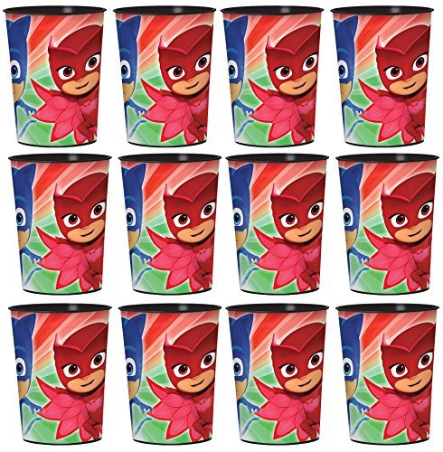 PJ Mask Lot of 12 16oz Party Plastic Cup ~Party Favor Supplies~]()