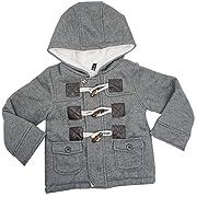 Ekaliy Winter Baby Toddler Boys Girls Fleece Coats Jackets with Hoodies 3-9 Months Grey