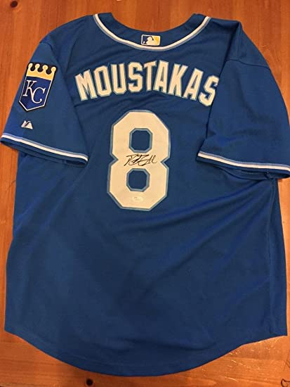 huge selection of 00077 eec47 Mike Moustakas Signed Jersey - KC S55350 - JSA Certified ...