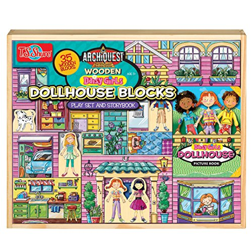T.S. Shure ArchiQuest Daisy Girls Wooden Dollhouse Blocks Playset & Storybook