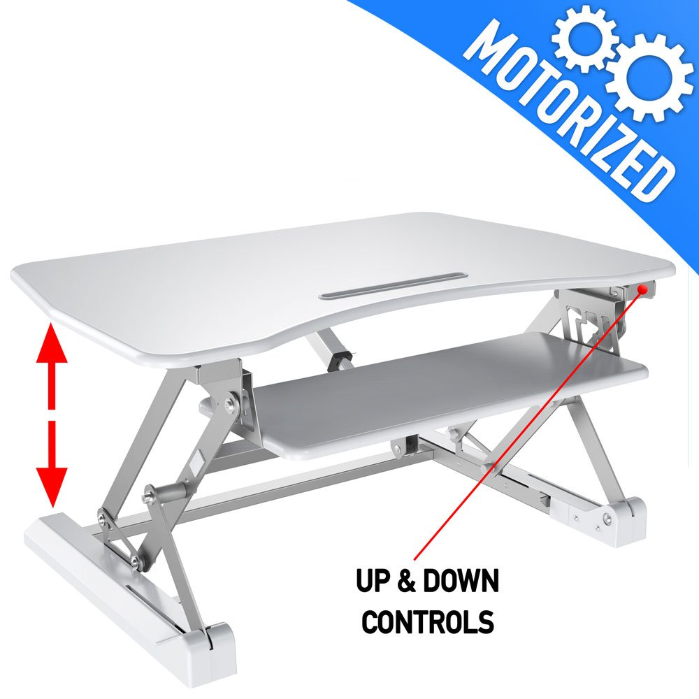 Motorized Standing Desk, Black - Aeon 80006 Aeon Stands and Mounts