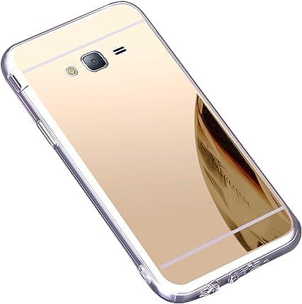 Coque Galaxy J3 2016,Miroir Housse Coque Silicone TPU pour Samsung Galaxy J3 2016,Surakey Bling Briller Diamond Coque Miroir Etui TPU Téléphone Coque ...