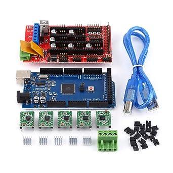 Akozon RAMPS 1.4 Controlador + MEGA2560 R3 + A4988 Con kit ...