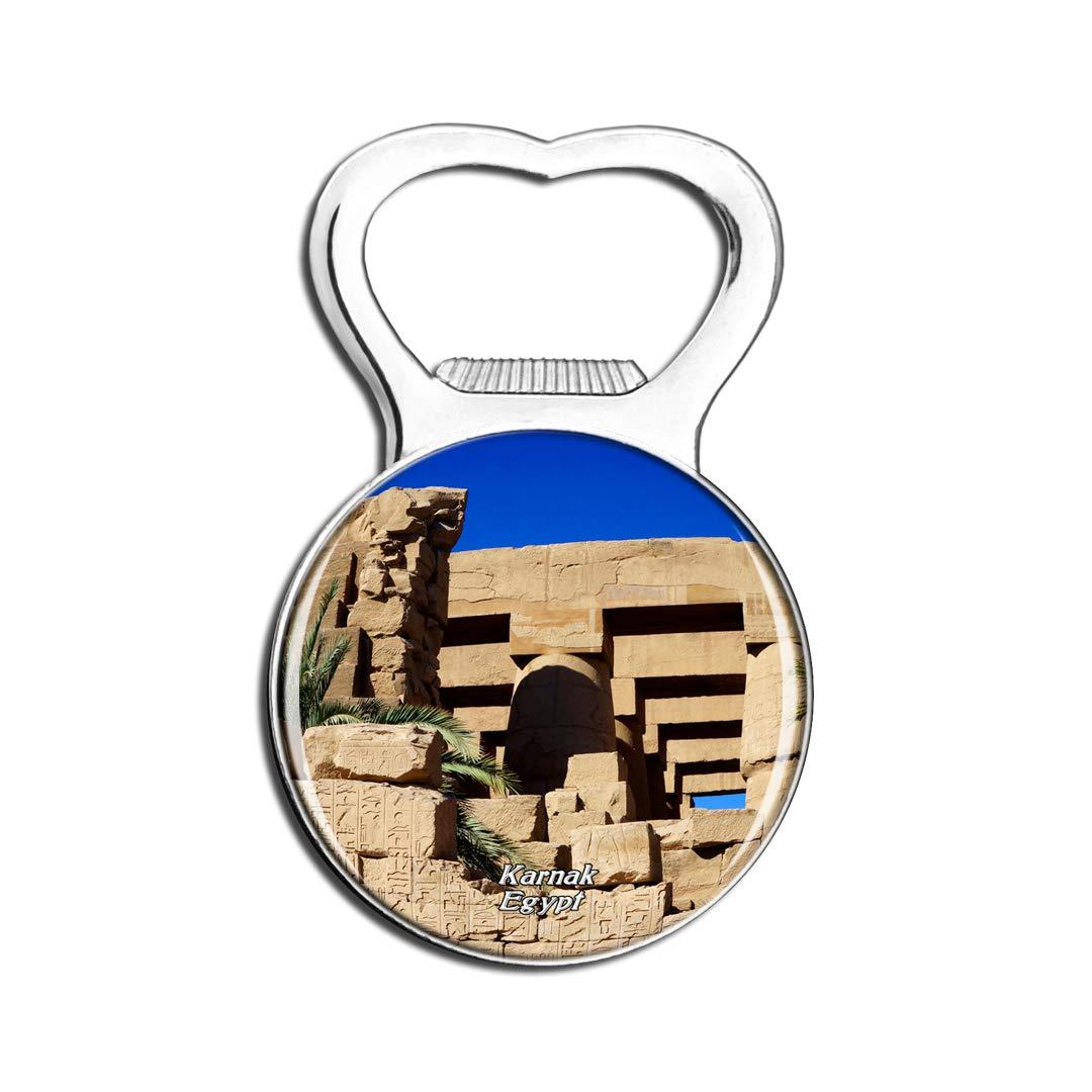 Weekino Egypt Karnak Temple Fridge Magnet Bottle Opener Beer City Travel Souvenir Collection Strong Refrigerator Sticker