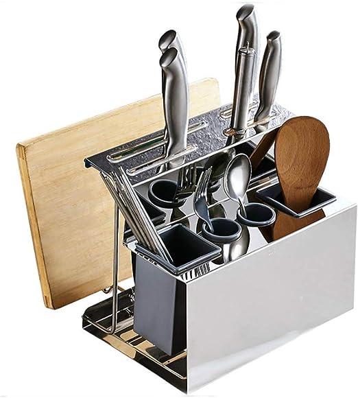 QYJpB Tablas de cortar Organizador de cuchillos/Utensilios de ...