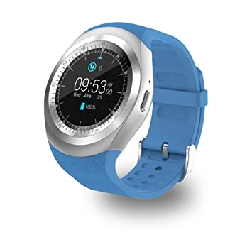 UKCOCO Y1 Relojes Inteligentes Bluetooth, SmartWatch de Pantalla Táctil Soporte Tarjeta SIM Tarjeta SD con Control Remoto de Sueño para iOS Android ...