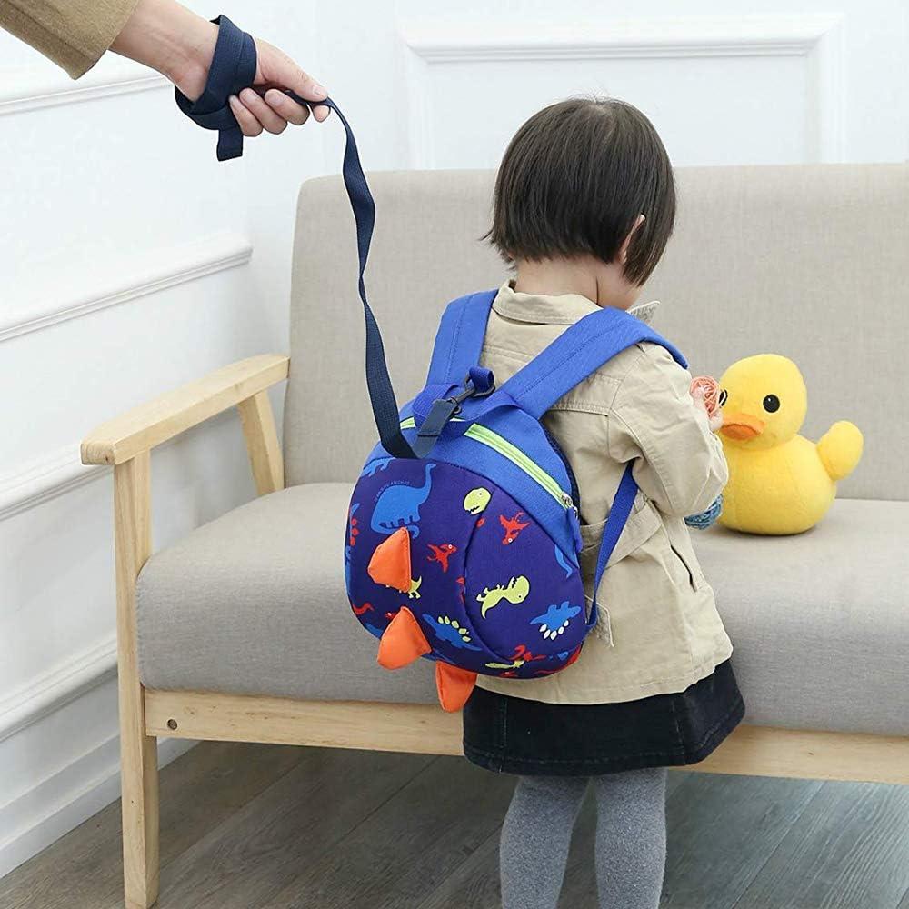 Kaimaily Toddler Dinosaur Backpack Kindergarten Bag with Leash for Preschool