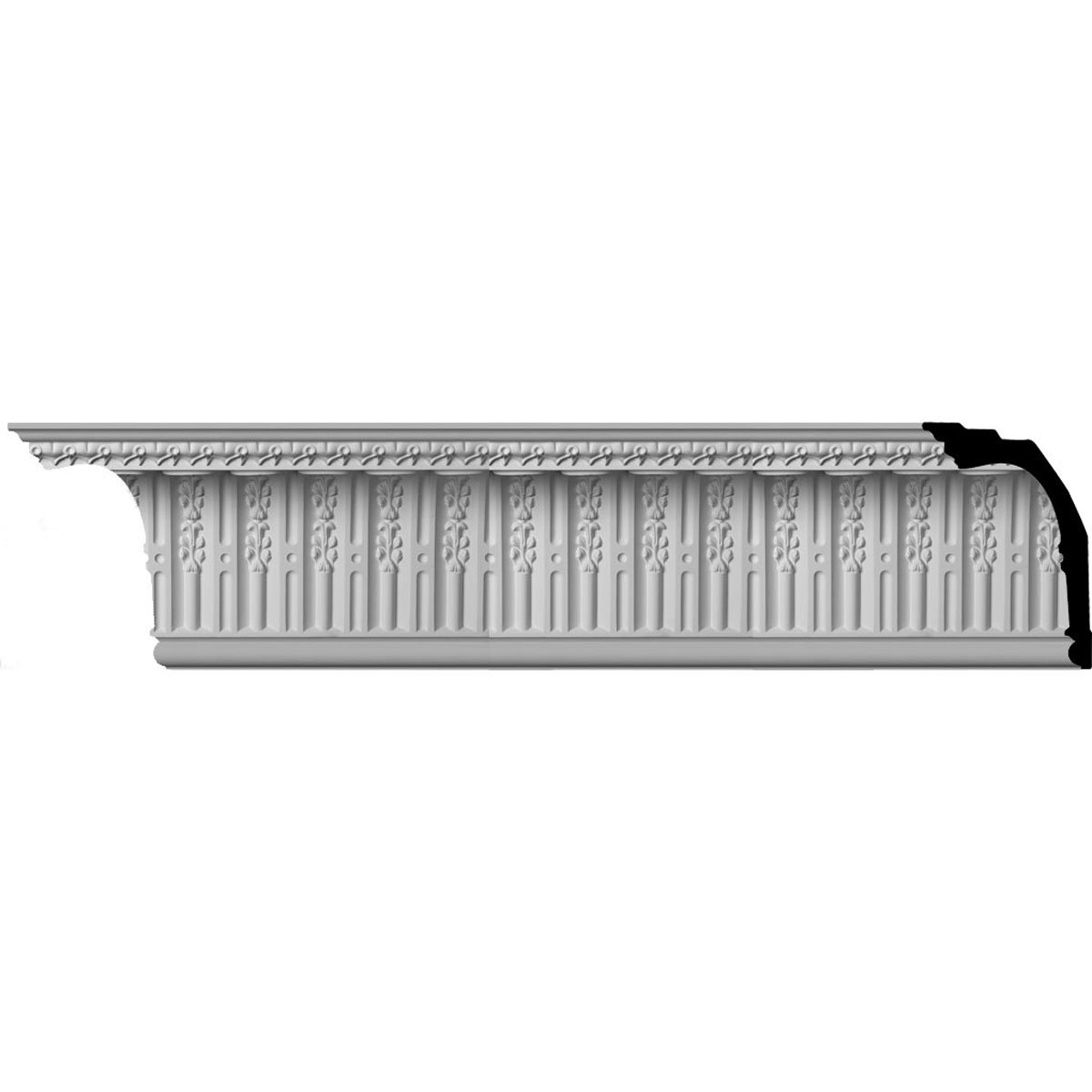 Ekena Millwork MLD11X08X13SP-CASE-12 11-3/8'' H x 8-1/8'' P x 13-7/8'' F x 96'' L Springtime Crown Molding with 3'' Repeat (12-Pack)