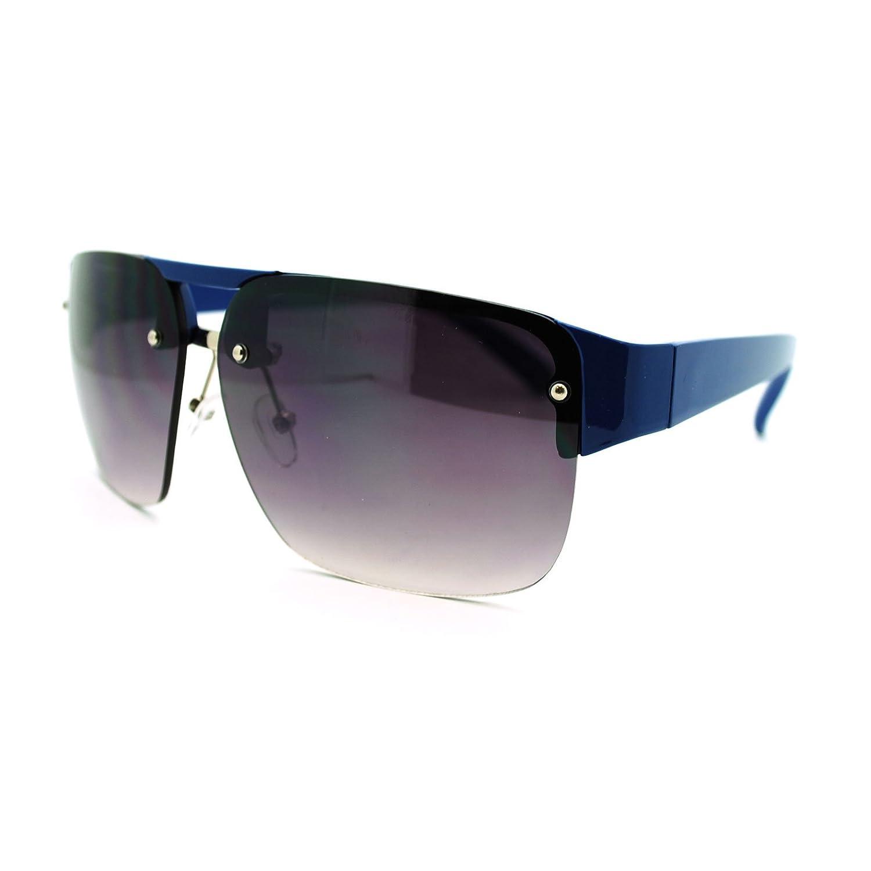 Mens Fashion Sunglasses Half Rim Square Flat Top Frame